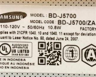 #1 Samsung Blu Ray DVD Player BD-J5700