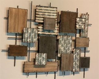 Rustic Contemporary Square Wall Decor28x32.5x2inHxWxD