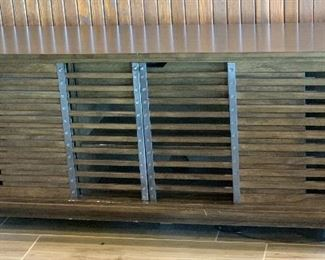 Casual Life Rustic/Industrial louvered Media Cabinet30x72x18inHxWxD