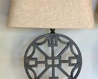 2pc Medallion Lamps Pair29x17x10inHxWxD