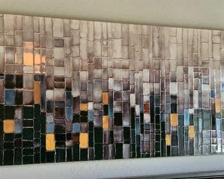 Contemporary Faux Tile Art30x60x1.5inHxWxD