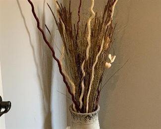 Ceramic Decor pot w/ BranchesVase: 18in H