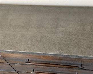 Austin Group Rustic Forge 6 Drawer Dresser37.5x66.5x19inHxWxD