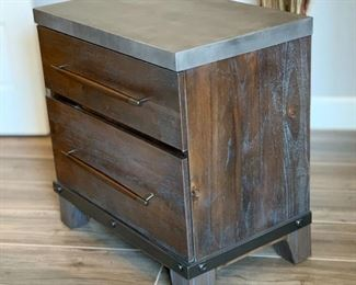 2pc Austin Group Rustic Forge Nightstands PAIR28x28x19inHxWxD