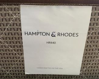 Austin Group Rustic Forge Queen Panel Bed w/ Hampton & Rhodes Mattress57x67x89in 58x79 mattressHxWxD