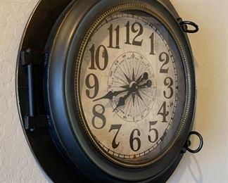 28in Rustic Tin Wall Clock28.5in DiameterHxWxD