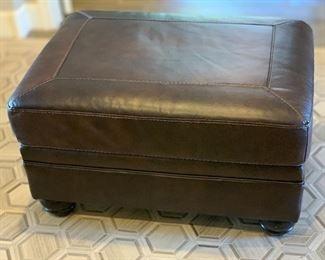Ashley Furniture Leather Ottoman19x33x23inHxWxD