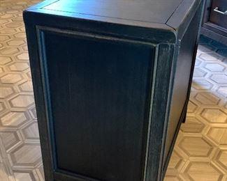 2pc Rustic Dark Wood End Tables PAIR24x14x24inHxWxD