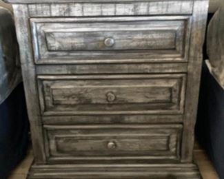 Grey Wood Weathered/Rustic Nightstand single32 x 30 x 18HxWxD