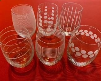 Mikasa Stemless Wine Glasses Set of 6