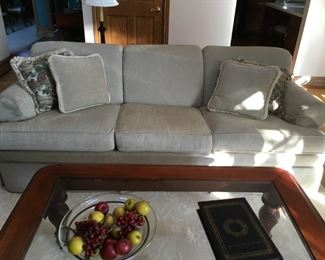 newer Ethan Allen  sofa (light beige)