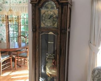 large Howard Miller grandfather clock