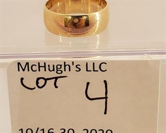 14k gold ladies band ring