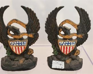 cast iron eagle bookends