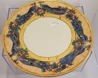 Large antique hand painted French porcelain  charger/ platter Haviland Limoges