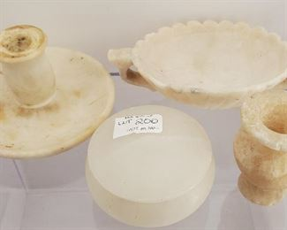 Antique mixed lot of alabaster