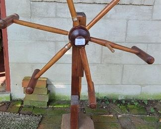 Antique Captain's wheel yarn winder