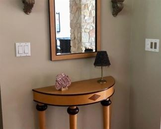 Half Moon Console table & matching mirror