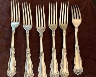 """$30 - Silver plate forks.  Each 7"""" L."""