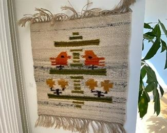 Danish modern woven tapestry.  One of many throughout the home.