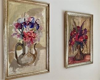More original floral bouquets by listed Polish artist Krystyna Owczarska.