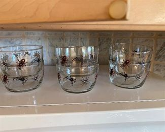 Libbey spider bowls.