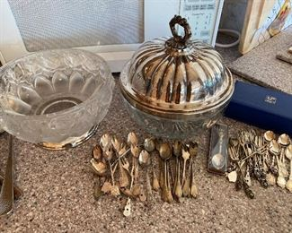 Hallmarked Polish silver appetizer utensil sets.