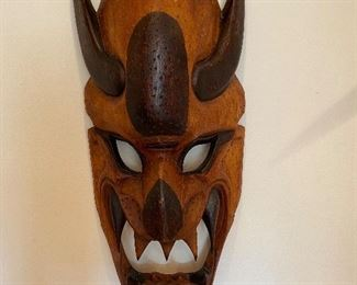Extra large wood carved mask.