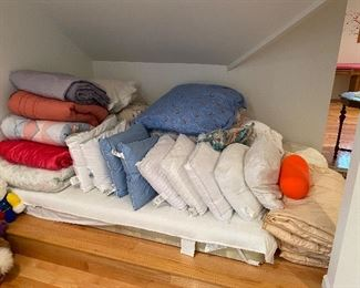 Lots of extra pillows & blankets!