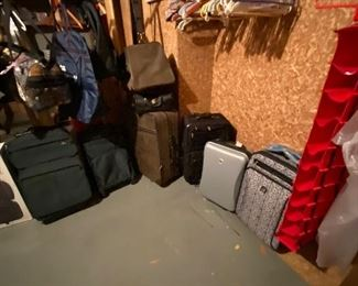 A room full of suitcases - all kinds and sizes.