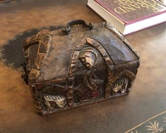 Carved treasure chest