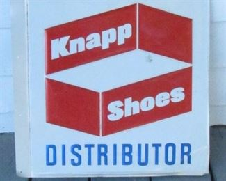 Vintage Knapp Shoes Advertising Flange Sign