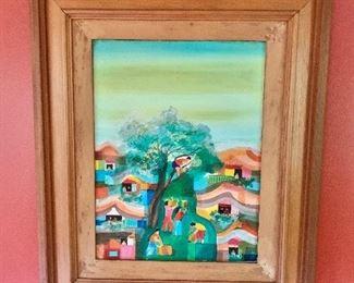 """$2,700 - Manuel D. Baldemor; Filipino, b. 1947, original artwork.  25""""H  x 21""""W"""