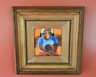 "$1,750 -Norma J Belleza;  Filipina b. 1939; original artwork. 16""H x 16""W"