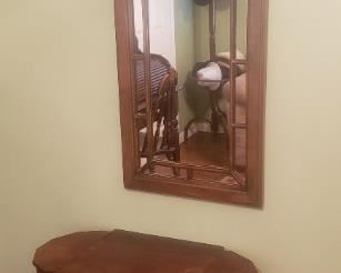 Martha Washington style sewing stand 45   Mirror 35 Buy it now