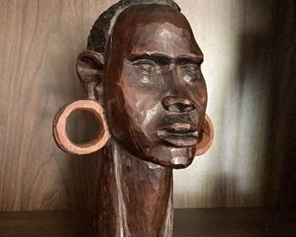 Gorgeous and unique African sculpture hand carved in ebony!  A very special piece.  $125.  Contact us at 518-944-0256!