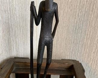 Hand carved man with cane.  Vintage.  In great condition. $65