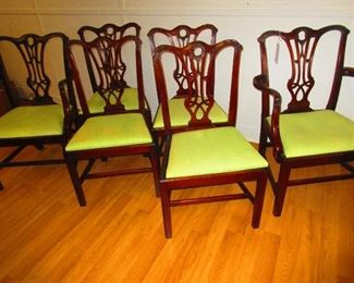 Group of 7 Chippendale Style Chairs