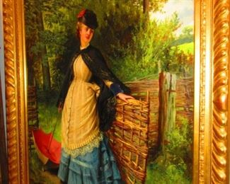 """Lady With Parasol"" by Edward Charles Barnes"