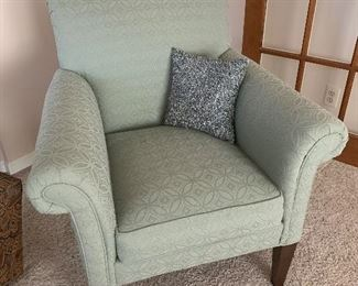 Ethan Allen chair with pillow.