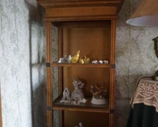 display shelf with figurines