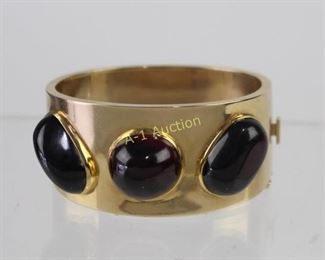 Gold and Almandine Garnet