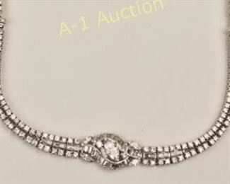 Platinum & Diamond Necklace/Bracelet