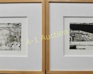 Pair Richard Diebenkorn Lithographs
