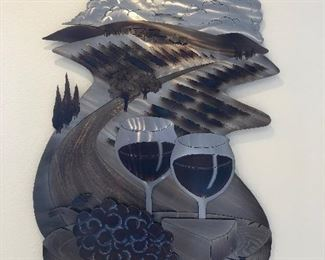 Metal Art Winery Wine Grapes Sonoma large