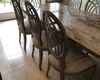 Table  Granite!  8  chairs