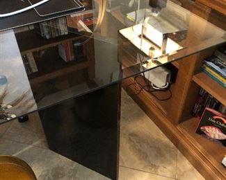 Glass and metal table - desk