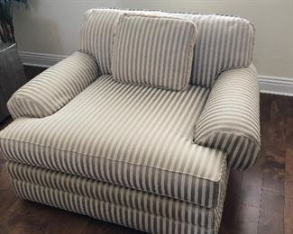 striped large chair