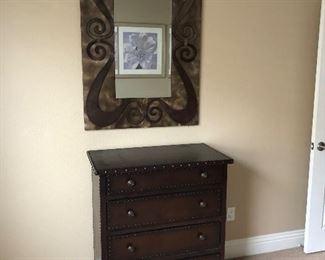 Dresser and decorative mirror