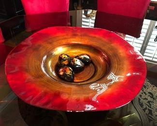 Huge glass center bowl